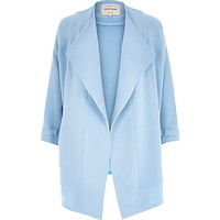 River Island Womens Light blue crepe relaxed fit draped jacket
