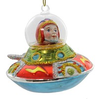 Holiday Ornament Spaceship Ornament Glass Ornament