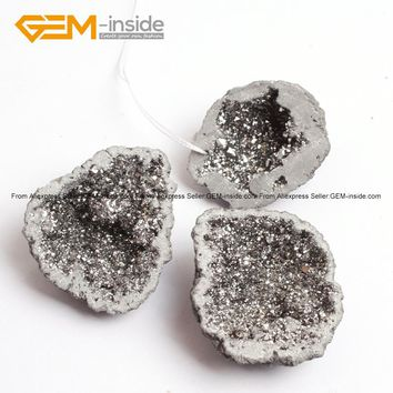 Geode Druzy Rock Crystal Quartz Beads