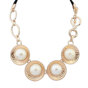 New Arrival Shiny Jewelry Gift Stylish Pearls Necklace [4918888388]
