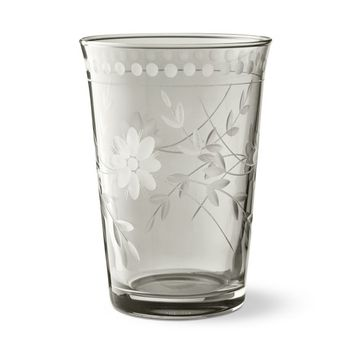 Vintage Etched Grey Tumblers Set of 4