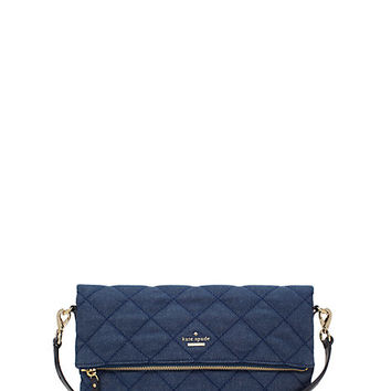 Kate Spade Emerson Place Quilted Denim Carson Classic Wash ONE