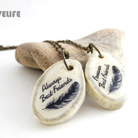 Couple Necklace Unique Best Friend Gifts Always and Forever Long Distance Friendship Necklace Best Friend Jewelry