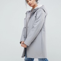 ASOS Fleece Lined Raincoat at asos.com
