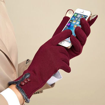 Flannelette Touchscreen Gloves