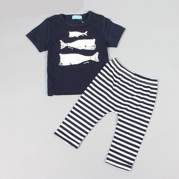 Baby Whale Shirt and Pants Set