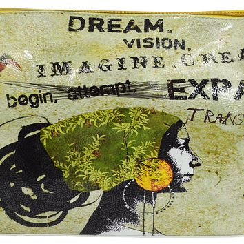 Dream & Vision Women Graphic Art Design Oil Cloth Make-up or Accessory Travel Bag