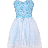 Dressystar Lace Sweetheart Christmas Party Dress Beautiful Beadings Up Body Zipper Up Back