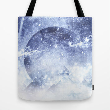 Even mountains get cold Tote Bag by HappyMelvin