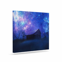 "Viviana Gonzalez ""Beginning"" Blue Galaxy Canvas Art"