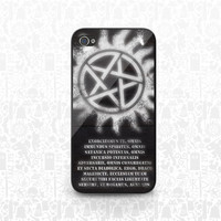 Portable Exorcism and Devil's Trap phone case - iPhone 4/4S/5/5S Samsung Galaxy S3/S4