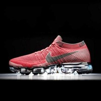 Nike Air Max VaporMax Flyknit Men Women Running Shoes Wine red G-FEU-SY