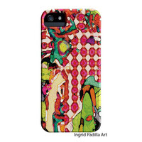 iPhone 6 Case, iPhone 5 Case, Colorful, Funky Abstract Art, iPhone cases, by Ingrid, iPhone 5S case, iPhone 6 Plus case