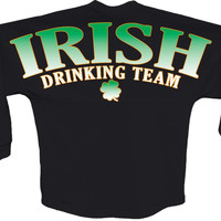 Irish drinking team pom print J america Long sleeve shirt