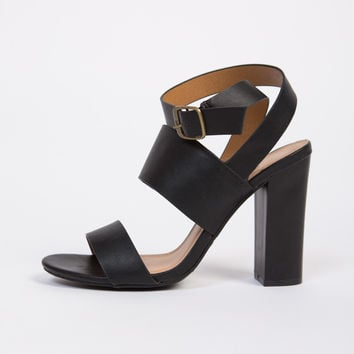 Double Banded Wooden Heels