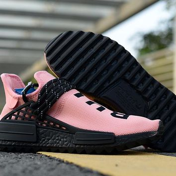 [Free Shipping ]Adidas NMD Human Race Pink Running Shoes