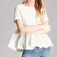 Back-Bow Peplum Top