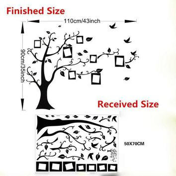 Family Photo Frame Flying Birds Tree Wall Stickers