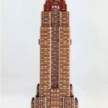 Educational 3D Model Puzzle Jigsaw Empire State Building DIY Toy