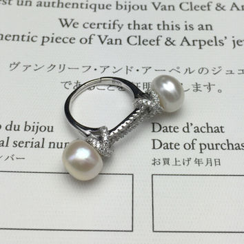 Jewelry New Arrival Shiny Stylish Gift 925 Silver Diamonds Pearls Design Ring [4989656068]