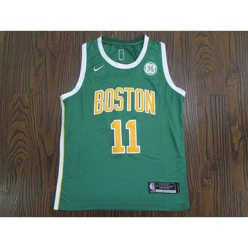 Men's Boston Celtics Kyrie Irving Nike Green 2018/19 Swingman Jersey ¨C Earned Edition