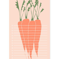 Carrots Market List Notepad