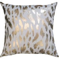 "Better Homes and Gardens Golden Cheetah 18"" x 18"" Poly/Cotton Fabric Gold Foil Print Pillow - Walmart.com"