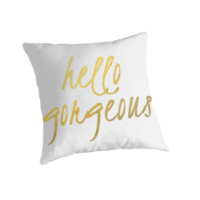 Hello Gorgeous - Faux Gold Foil by mystylerepublic