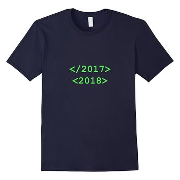 Funny New Years 2018 T Shirt Computer Code