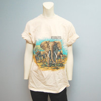 "Vintage 1990's ""Extinction is Forever"" Las Vegas Elephant T-Shirt - Size Large"