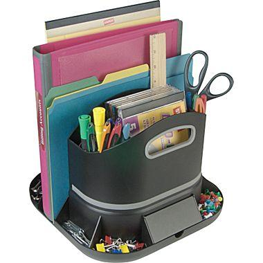 Staples spinworx rotating desk from staples skool - Spinning desk organizer ...