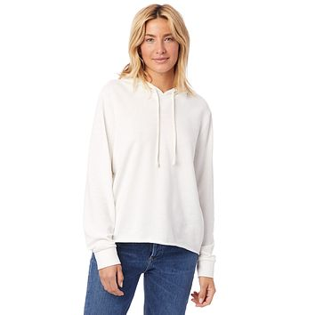 Alternative Apparel - Day Off Burnout French Terry Ivory Hoodie