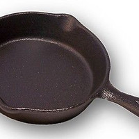 "New Old Mountain Cast Iron  Pre Seasoned Spoon Rest6.5""  Mini-Skillet"