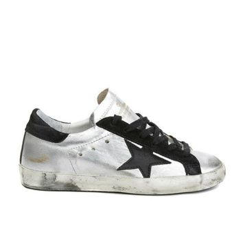 DCCKUN6 Golden Goose Deluxe Brand Super Star Sneakers Silver Black Couples Shoes