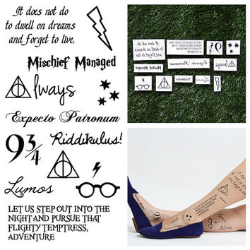 Harry Potter - You're a Wizard! - Temporary Tattoo (Set of 12)