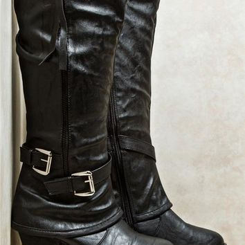 Double Buckle Strap Boots