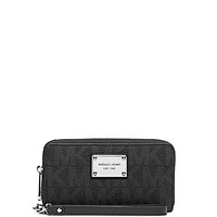 MICHAEL Michael Kors Jet Set Large Coin Multi Function Wallet - Black