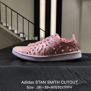 Adidas Stan Smith Cutout Hollow Leisure Women Pink Sneakers