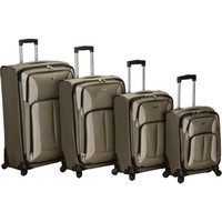 "Rockland Four-Piece Impact Spinner Luggage Set (18""/22""/ 26""/30"")"