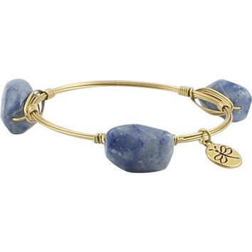 Crystal Wire Bangle Blue Stones