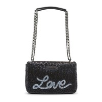 Love Moschino Black Two Handles Leather Shoulder Bag