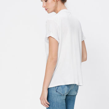 MOTHER | Oversized Goodie Goodie Tee - Dirty White