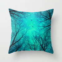 A Certain Darkness Is Needed II (Night Trees Silhouette) Throw Pillow by Soaring Anchor Designs ⚓