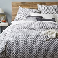 Organic Stamped Dot Duvet Cover + Shams