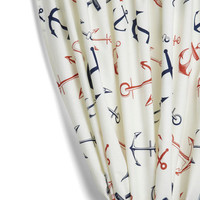 ModCloth Nautical Snooze Anchor Curtain