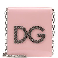 DG Girls patent leather shoulder bag