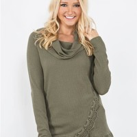 Tulip Waffle Knit Top