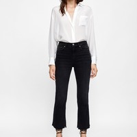 PREMIUM CROPPED BOOTCUT VICTORY BLACK JEANS ZWDETAILS