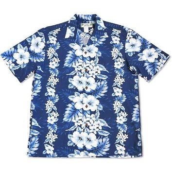 hanalei blue hawaiian cotton shirt