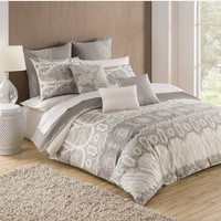 'Kamiri' Embroidered Cotton Duvet Cover